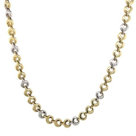 Gorgeous Yellow and White Gold Necklace