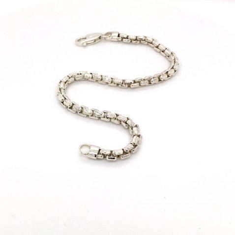 Sterling Silver Bracelet Open View