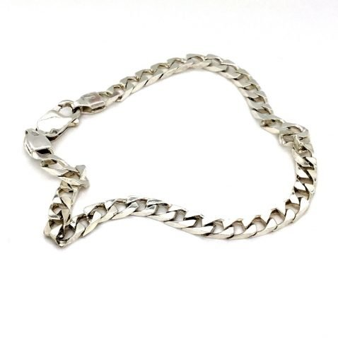 Sterling Silver Bracelet Top View