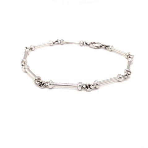 Stylish White Gold Handmade Bracelet