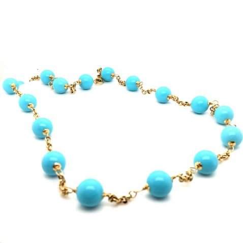 Stunning Turquoise and Gold Necklace