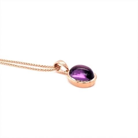 Amethyst and Rose Gold Pendant Side View 3Amethyst and Rose Gold Pendant Side ViewAmethyst and Rose Gold Pendant Side View 3