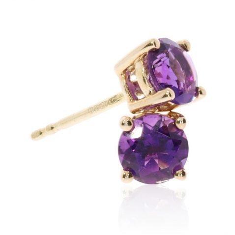 Amethyst and Gold Earrings By Heidi Kjeldsen Jewellery ER2377 Stack