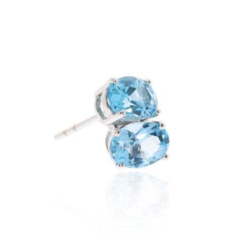 Blue Topaz Oval Earrings By Heidi Kjeldsen Jewellery Stack