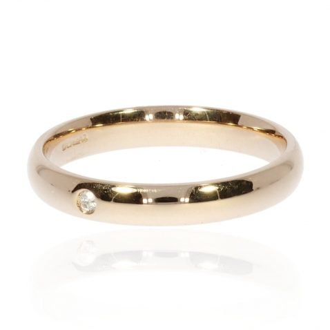 Diamond and Rose Gold Stacking Ring By Heidi Kjeldsen Jewellery R1517 Diamond and Rose Gold Stacking Ring By Heidi Kjeldsen Jewellery R1517 Side