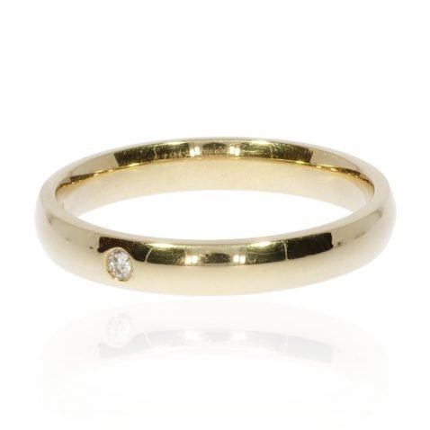 Diamond and Gold Ring R1518 By Heidi Kjeldsen Jewellery Side