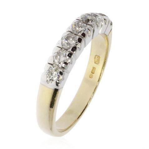 Gorgeous Diamond Eternity Ring by Heidi Kjeldsen Jewellery R1579 Vertical View