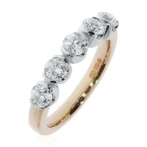 Exquisite Diamond Five Stone Ring By Heidi Kjeldsen Jewellery R1599 Vertical