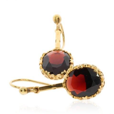 Garnet and Gold Drop Earrings By Heidi Kjeldsen Jewellery stack