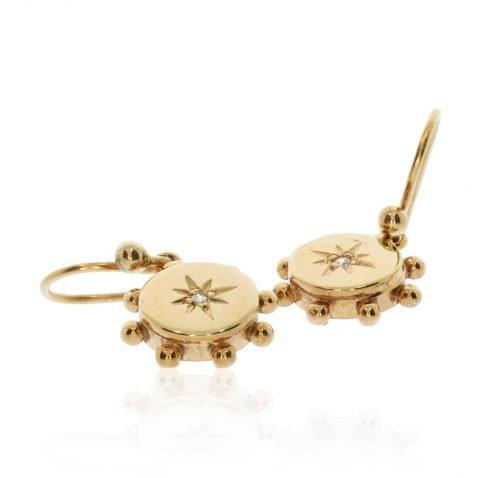 Gold and Diamond Drop Earrings by Heidi Kjeldsen Jewellers ER2400 Flat