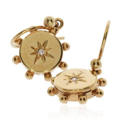 Gold and Diamond Drop Earrings by Heidi Kjeldsen Jewellers ER2400 Stack