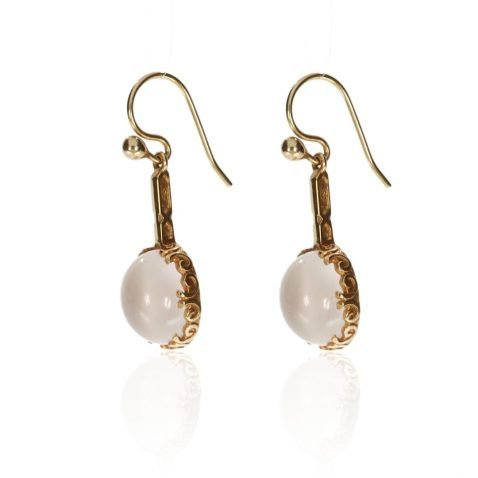 Moonstone and Gold Drop Earrings by Heidi Kjeldsen Jewellers ER1919 side