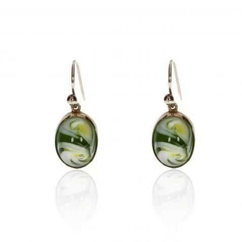 Murano Glass and Gold Earrings By Heidi Kjeldsen Jewellery ER1838 Front