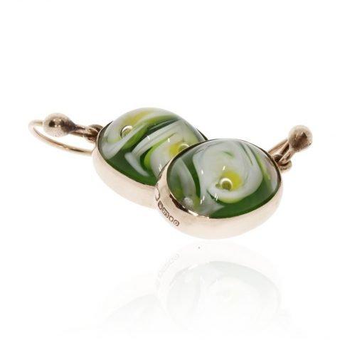 Murano Glass and Gold Earrings By Heidi Kjeldsen Jewellery ER1838 stack