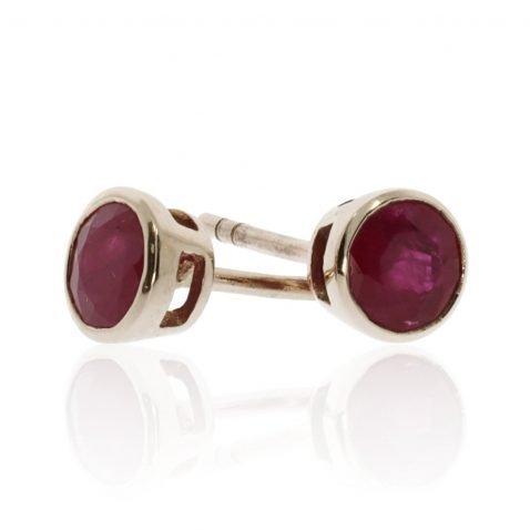 Ruby and Gold Round Earrings by Heidi Kjeldsen ER2344 stack