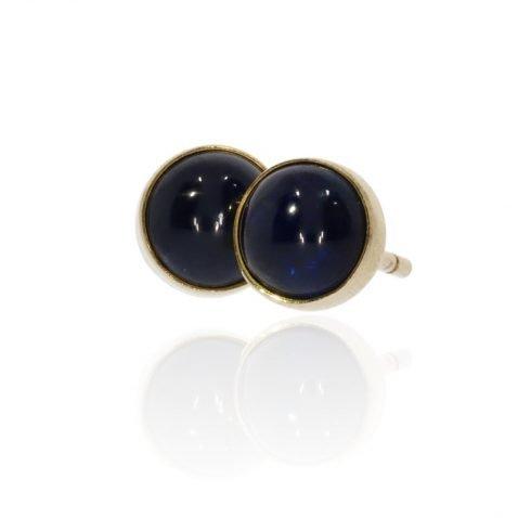 Sapphire and Gold Earrings By Heidi Kjeldsen Jewellery ER2473 Front