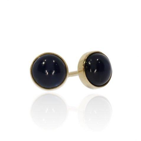 Sapphire and Gold Earrings By Heidi Kjeldsen Jewellery ER2473 Side
