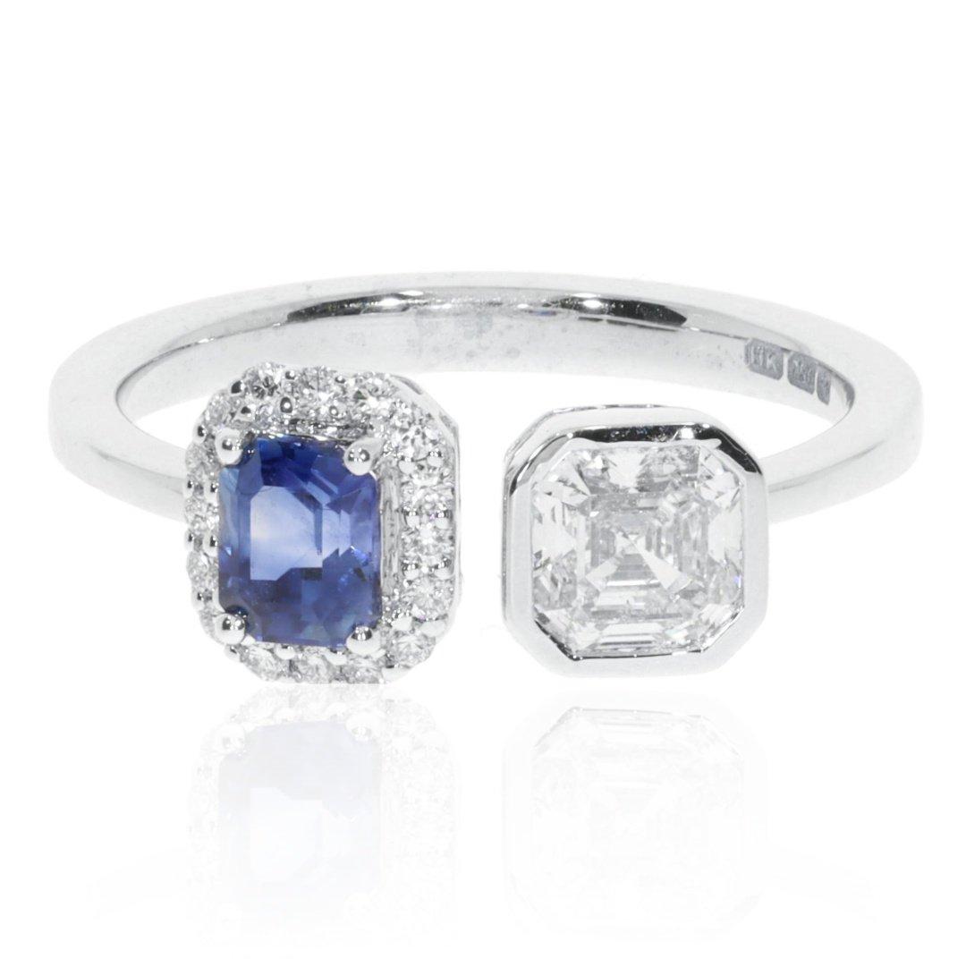 Sapphire and Diamond Ring By Heidi Kjeldsen Jewellery R1578 Front