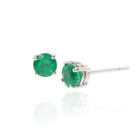Stunning Emerald and white Gold earrings by Heidi kjeldsen Jewellery ER2494 Side