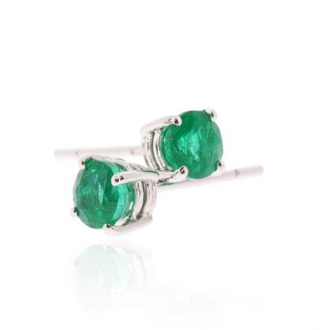 Stunning Emerald and white Gold earrings by Heidi kjeldsen Jewellery ER2494 Stack