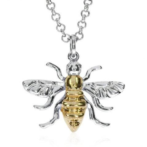 Large Gold Plated Sterling Silver Bee by Heidi Kjeldsen jewellers P1392 Front