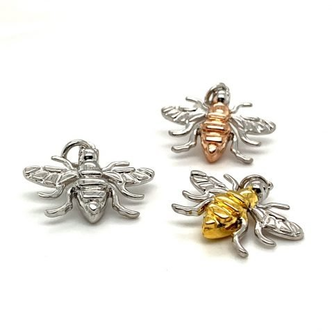 Small Rose Gold Plated Sterling Silver Bee Pendant P1394 B