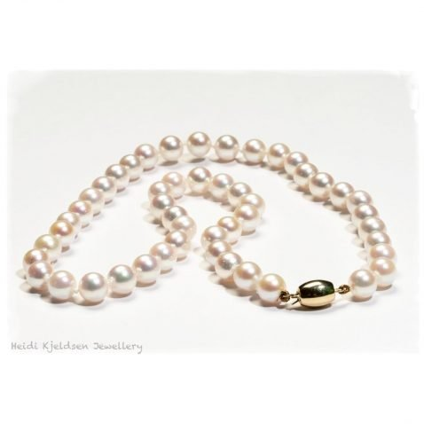Beautiful Akoya Cultured Pearl Necklace A