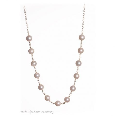 Elegant Cultured Pearl and Gold Filled Necklace by Heidi Kjeldsen Jewellers NL1240 A