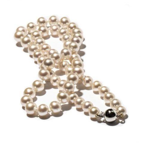 Lustrous white Cultured Pearls Heidi Kjeldsen Jewellers NL1221 C