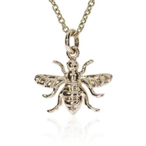 Beautiful 9ct Gold Bee Pendant by Heidi Kjeldsen Jewellers P1406 Front