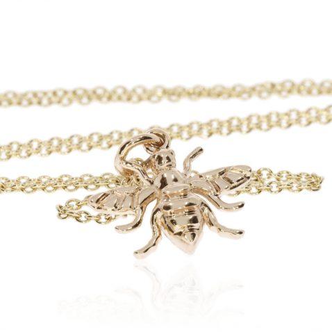 Beautiful 9ct Gold Bee Pendant by Heidi Kjeldsen Jewellers P1406 Standing