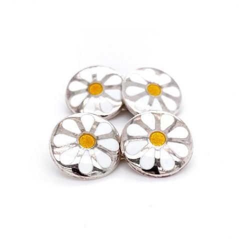 Stylish Daisy handmade sterling silver cufflinks by Heidi Kjeldsen Jewellery CL0227 B