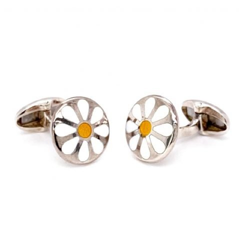 Gorgeous Daisy Sterling Silver Cufflinks by Heidi Kjeldsen Jewellers CL0226 1