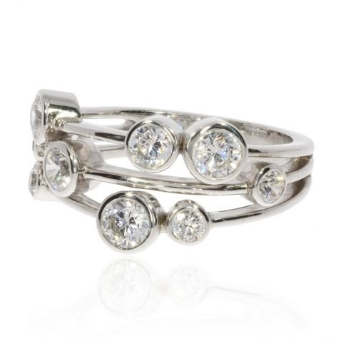 Diamond Bubble Ring By Heidi Kjeldsen Jewellers R1631s side