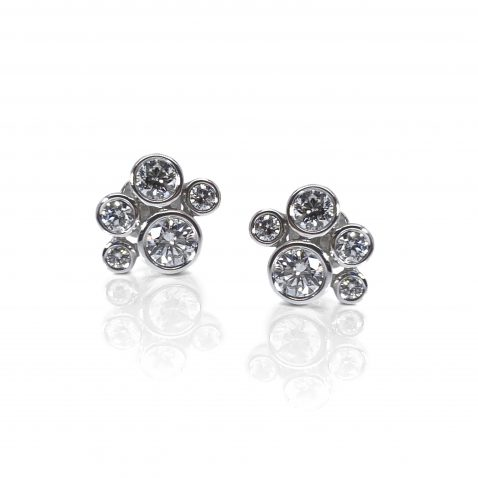 Scintillating Diamond Bubble Earrings By Heidi Kjeldsen Jewellery ER2501 front View 2