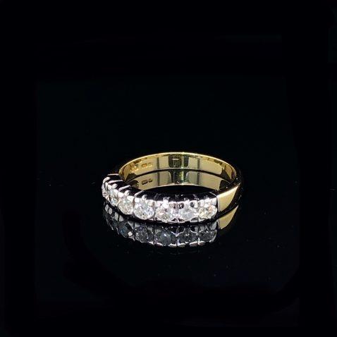 Gorgeous Diamond Eternity Ring by Heidi Kjeldsen Jewellery R1579 on black