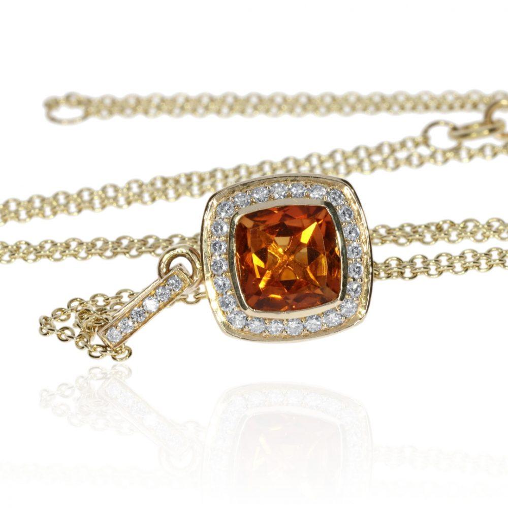 Gorgeous Madeira Citrine and Diamond Pendant by Heidi Kjeldsen Jewellery P1300 side