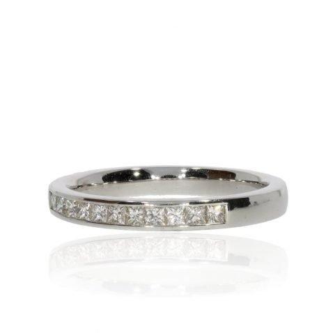 Scintillating Princess Cut Diamond Eternity Ring by Heidi Kjeldsen jewellery R1584 side view