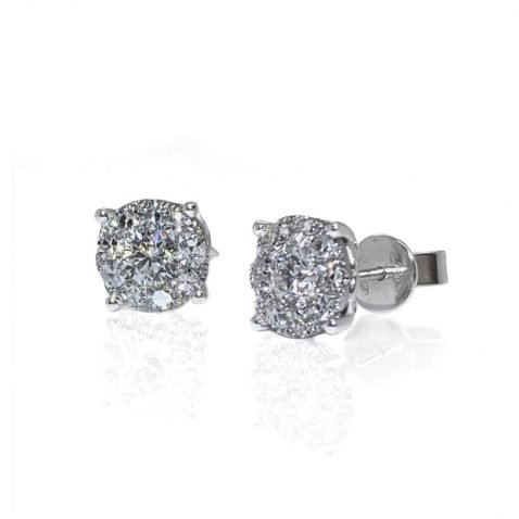 Stunning Diamond Cluster Earrings By Heidi Kjeldsen Jewellers ER2502 front view 2