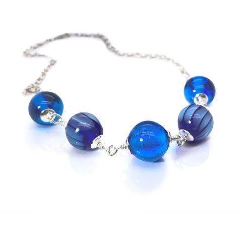 Blue Murano Glass By Heidi Kjeldsen Jewellery NL1256 front view