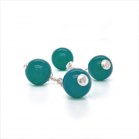 Striking Green Agate Sterling Silver By Heidi Kjeldsen Jewellery CL292 A