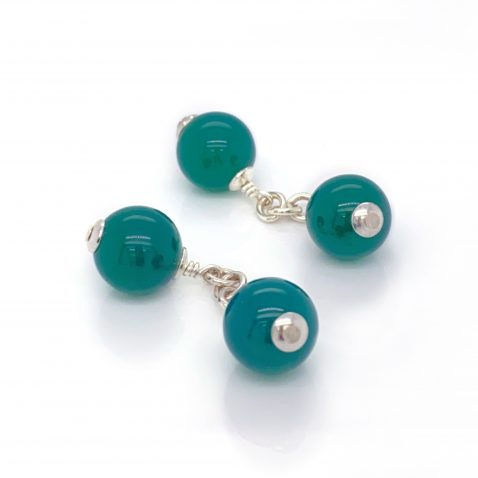 Striking Green Agate Sterling Silver By Heidi Kjeldsen Jewellery CL292 B