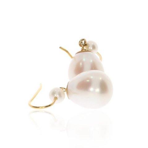 White Pearl Drop Earrings By Heidi Kjeldsen Jewellery ER2511 Bundle View