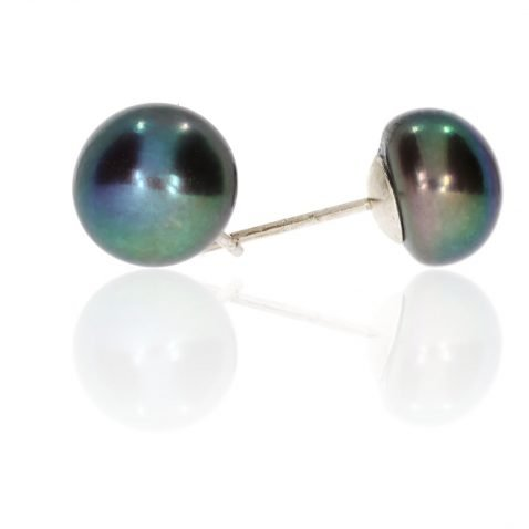 Grey Pearl Earrings By Heidi Kjeldsen ER2071 Side
