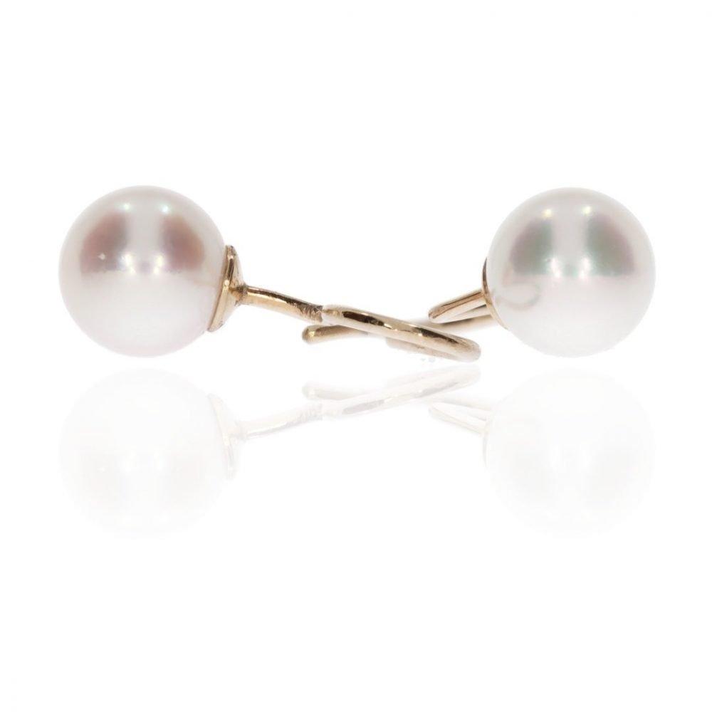 Stylish Twist-In Akoya Pearl Earrings By Heidi Kjeldsen Jewellery ER1987