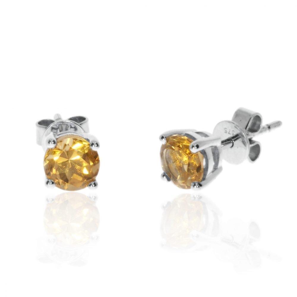 Citrine Earrings By Heidi Kjeldsen Jewellery ER2567 Front
