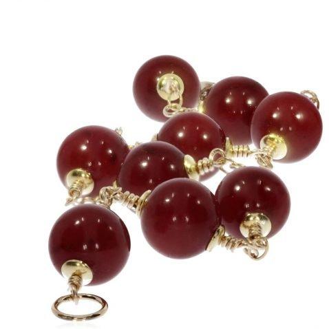 Deep Red Agate Bracelet By Heidi Kjeldsen BL1381 Stack