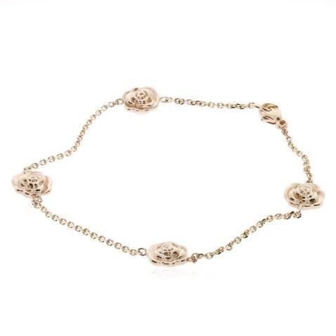 Gold Rose Bracelet By Heidi Kjeldsen Jewellers BL1377 Round View