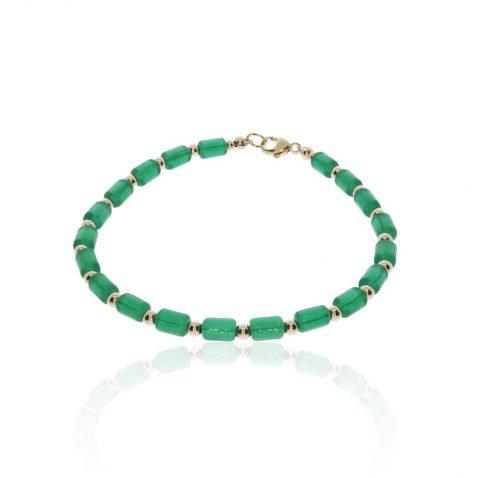 Green Glass Bracelet By Heidi Kjeldsen Jewellers BL1380 round