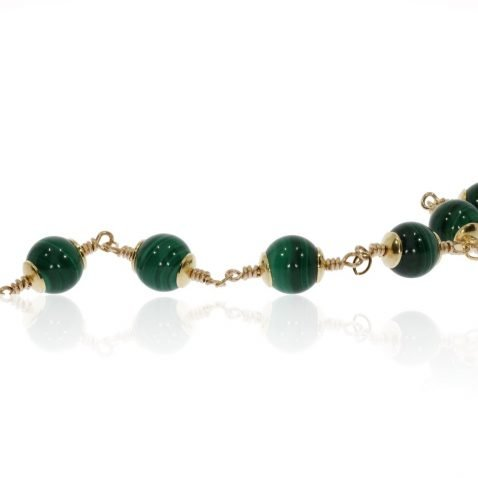 Malachite Bracelet By Heidi Kjeldsen Jewellery BL1383 Flat